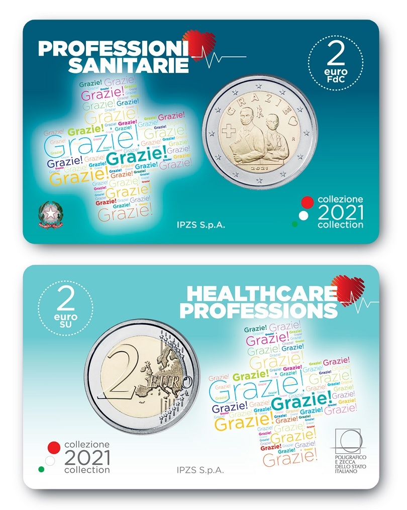 (EUR10.BU.2021.48-2ms10-21f004) 2 euro Italy 2021 BU - Thanks (card) (zoom)