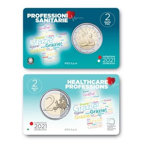 (EUR10.BU.2021.48-2ms10-21f004) 2 euro commémorative Italie 2021 BU - Merci (carte)