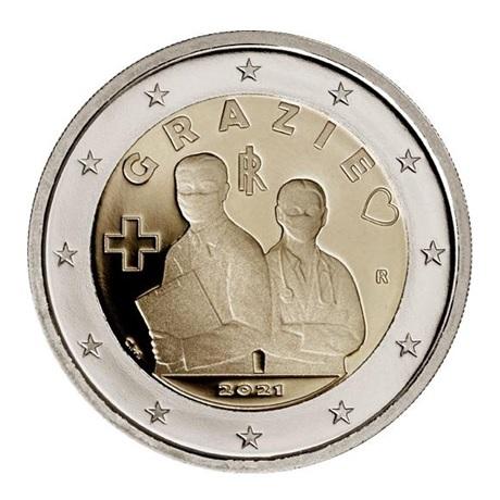 (EUR10.Proof.2021.48-2ms10-21p002) 2 euro commémorative Italie 2021 BE - Merci Avers