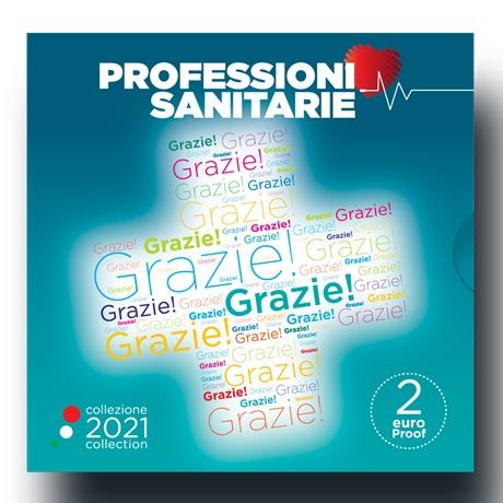 (EUR10.Proof.2021.48-2ms10-21p002) 2 euro commémorative Italie 2021 BE - Merci (packaging)