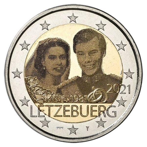 (EUR11.BU.set.2021.1) BU coin set Luxembourg 2021 - Rumelange (Wedding) (2 €) (zoom)