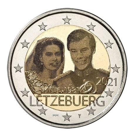 (EUR11.BU.set.2021.1) Coffret BU Luxembourg 2021 - Rumelange (Mariage Grand-ducal) (2 €)