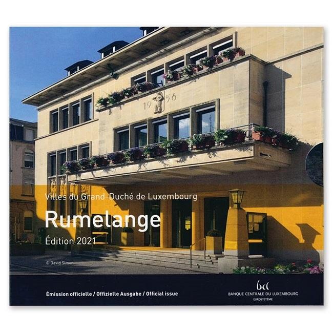 (EUR11.BU.set.2021.2) BU coin set Luxembourg 2021 - Rumelange (Grand Duke Jean) (zoom)