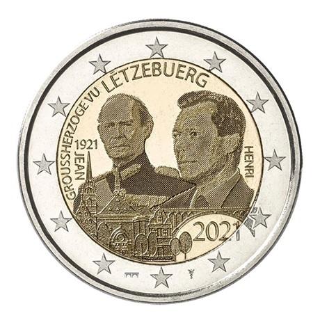 (EUR11.BU.set.2021.2) Coffret BU Luxembourg 2021 - Rumelange (Grand-Duc Jean) (2 €)
