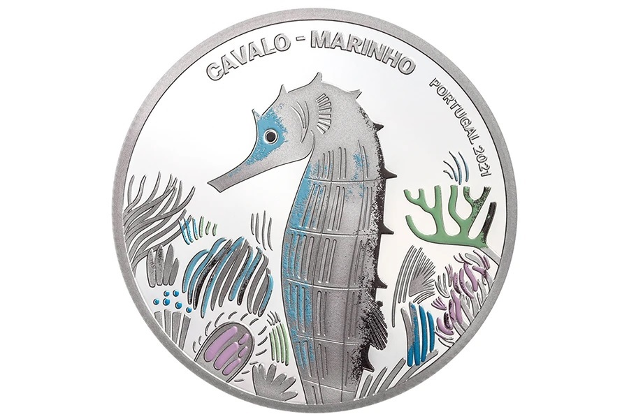 (EUR15.Proof.2021.1022831) 5 euro Portugal 2021 Proof silver - Sea Horse Reverse (zoom)