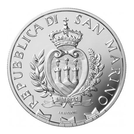 (EUR18.Proof.2021.335) 5 euro Saint-Marin 2021 argent BE - Football Avers