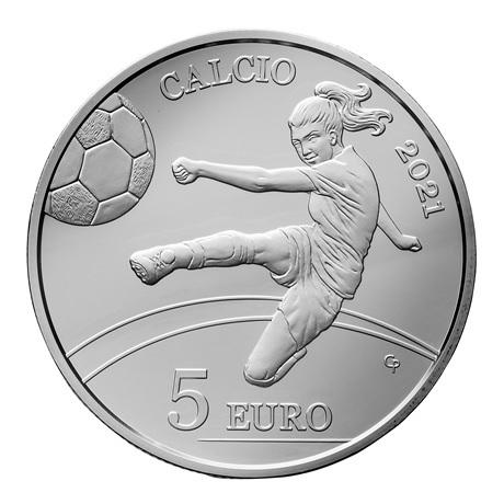 (EUR18.Proof.2021.335) 5 euro Saint-Marin 2021 argent BE - Football Revers