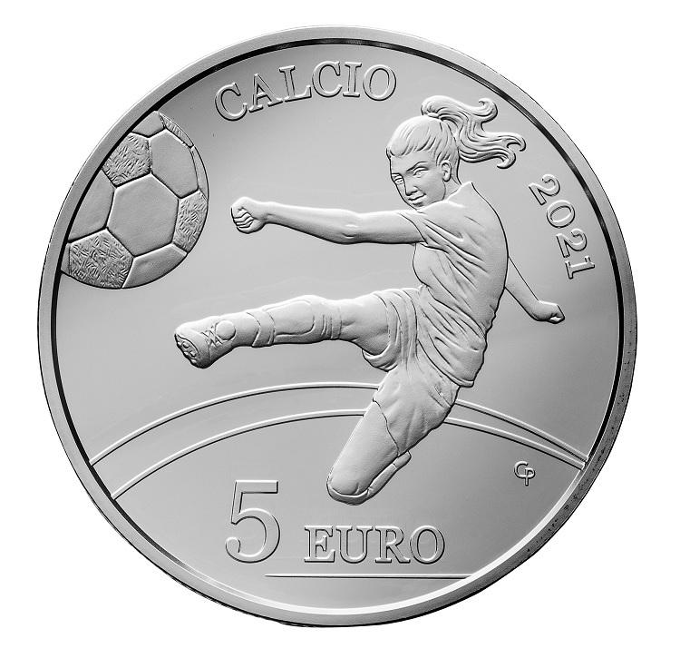 (EUR18.Proof.2021.335) 5 euro San Marino 2021 Proof silver - Football Reverse (zoom)