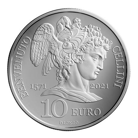 (EUR18.Proof.2021.336) 10 euro Saint-Marin 2021 argent BE - Benvenuto Cellini Revers