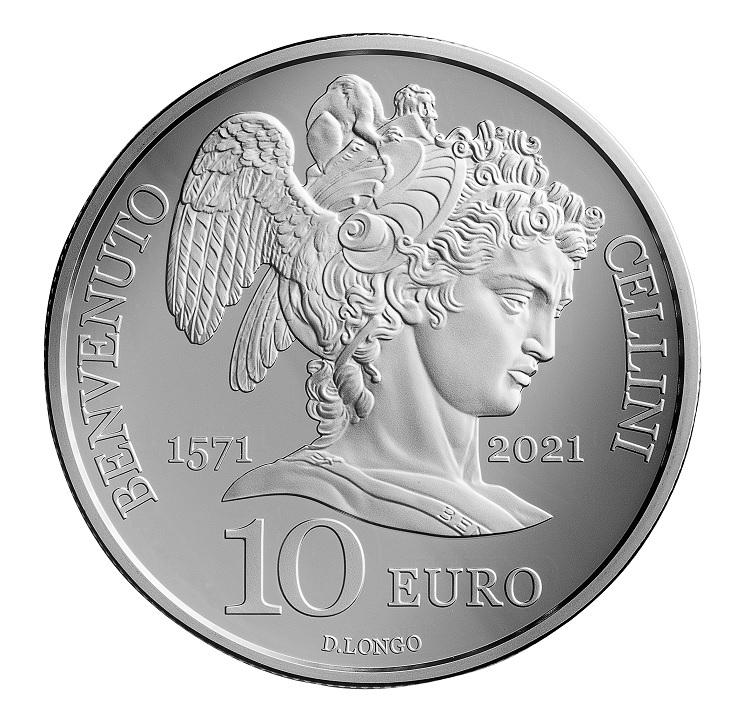 (EUR18.Proof.2021.336) 10 euro San Marino 2021 Proof silver - Benvenuto Cellini Reverse (zoom)