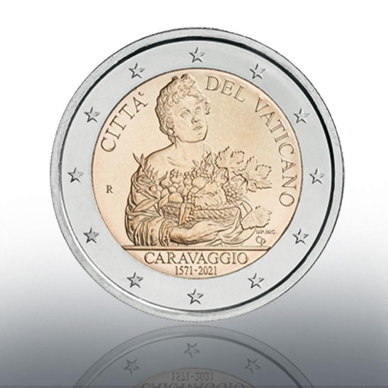 (EUR19.BU.2021.CN1580) 2 euro Vatican 2021 BU - Caravaggio Obverse (zoom)