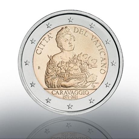 (EUR19.BU.2021.CN1580) 2 euro commémorative Vatican 2021 BU - Le Caravage Avers