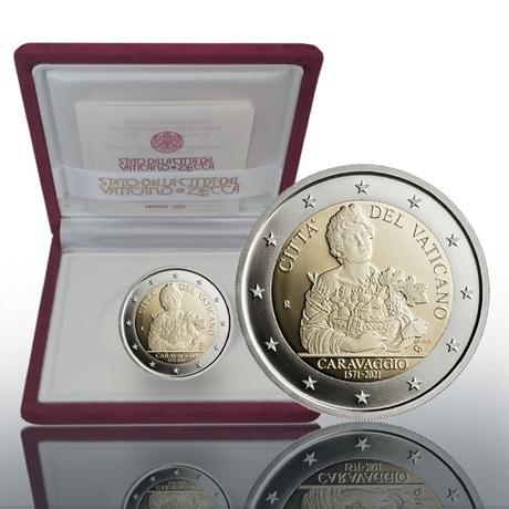 (EUR19.Proof.2021.CN1581) 2 € commémorative Vatican 2021 BE - Le Caravage (écrin)