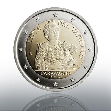 (EUR19.Proof.2021.CN1581) 2 euro commémorative Vatican 2021 BE - Le Caravage Avers