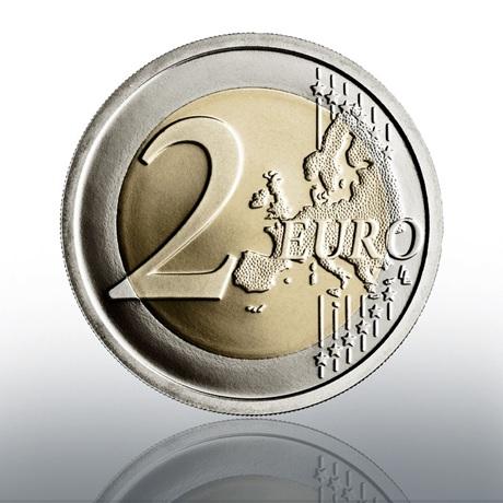 (EUR19.Proof.2021.CN1581) 2 euro commémorative Vatican 2021 BE - Le Caravage Revers