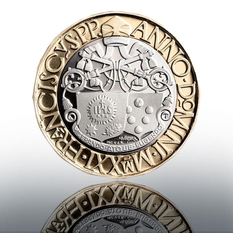 (EUR19.Proof.2021.CN1582) 5 euro Vatican 2021 Proof - Pope Leo X Reverse (zoom)