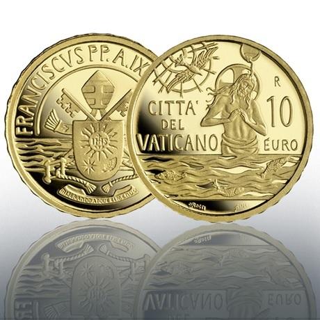 (EUR19.Proof.2021.CN1584) 10 € Vatican 2021 Au BE - Sacrement du baptême