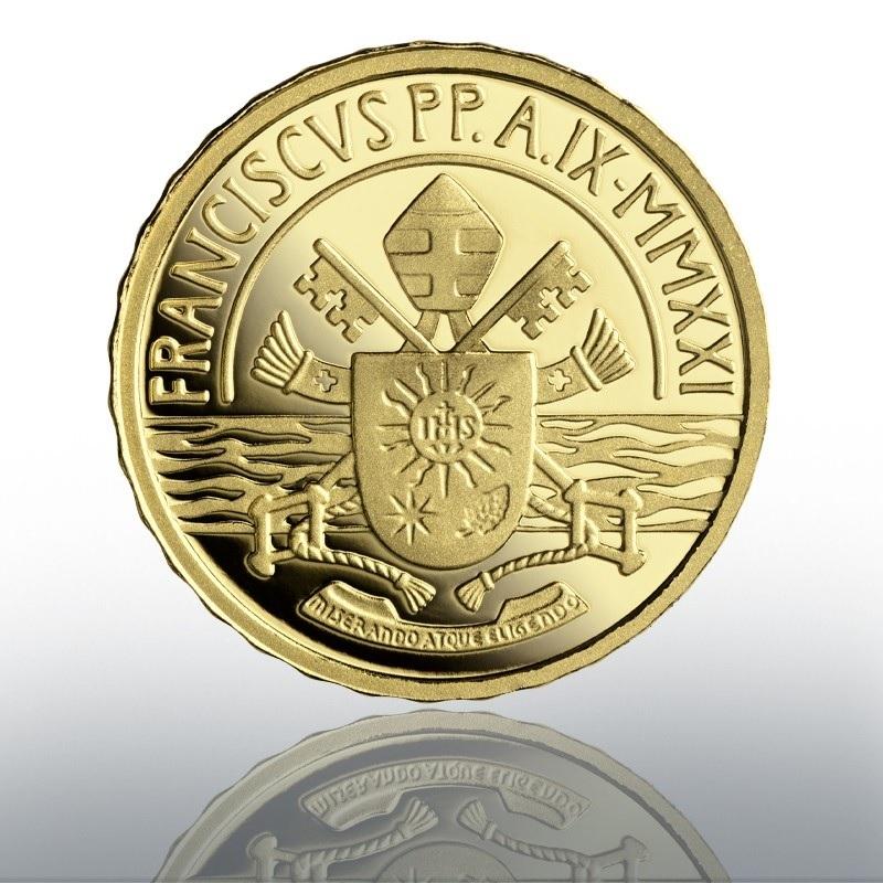 (EUR19.Proof.2021.CN1584) 10 euro Vatican 2021 Proof gold - Sacrament of Baptism Reverse (zoom)