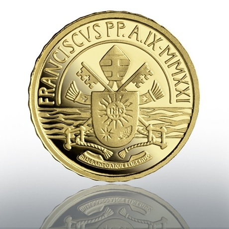 (EUR19.Proof.2021.CN1584) 10 euro Vatican 2021 or BE - Sacrement du baptême Revers