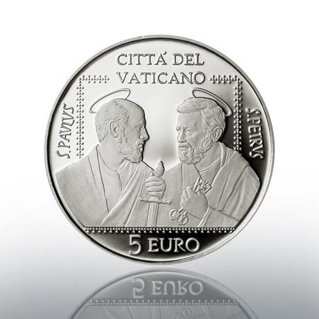 (EUR19.Proof.2021.CN1586) 5 euro Vatican 2021 argent BE - Association Saints Pierre et Paul Avers
