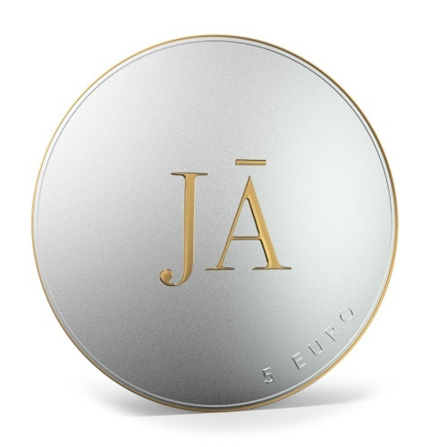 (EUR21.Proof.2021.5.E.1) 5 euro Latvia 2021 Proof silver - Yes Reverse (zoom)