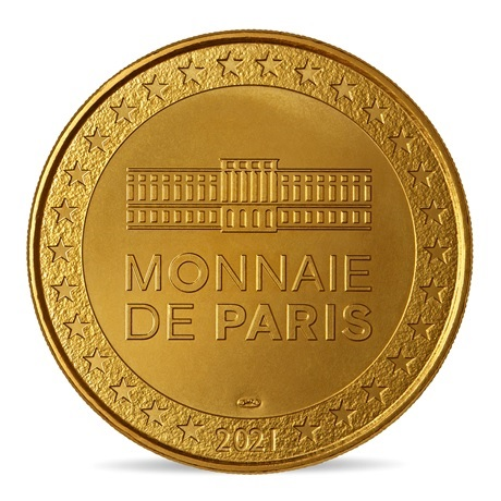(FMED.Méd.souv.2021.10011357410000) Jeton souvenir - Le Corbeau et le Renard Revers