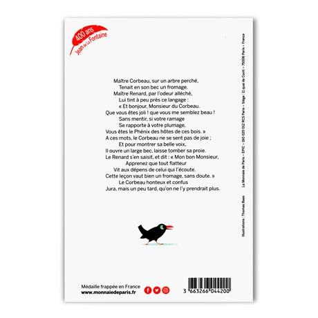 (FMED.Méd.souv.2021.10011357410000) Jeton souvenir - Le Corbeau et le Renard Verso
