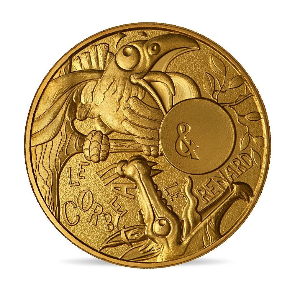 (FMED.Méd.souv.2021.10011357410000) Memory token - The Crow and the Fox Obverse (zoom)
