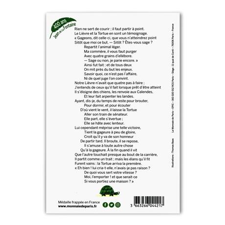 (FMED.Méd.souv.2021.10011357420000) Jeton souvenir - Le Lièvre et la Tortue Verso