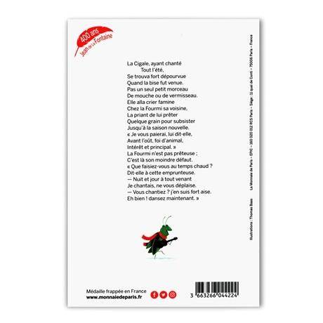 (FMED.Méd.souv.2021.10011357430000) Jeton souvenir - La Cigale et la Fourmi Verso