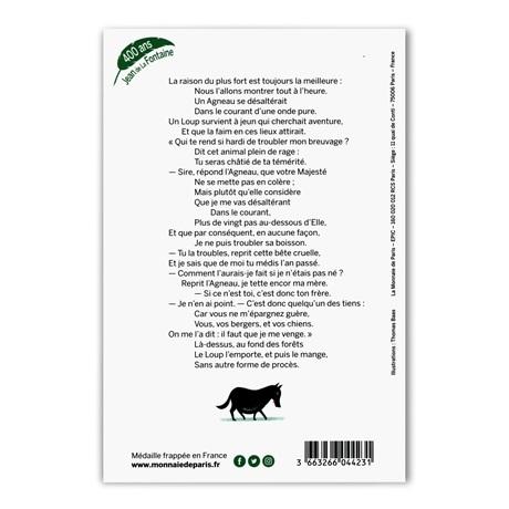 (FMED.Méd.souv.2021.10011357440000) Jeton souvenir - Loup et Agneau Verso