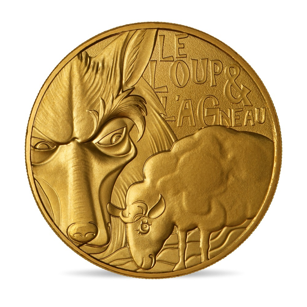 (FMED.Méd.souv.2021.10011357440000) Memory token - The Wolf and the Lamb Obverse (zoom)