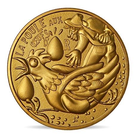 (FMED.Méd.souv.2021.10011357450000) Jeton souvenir - Poule œufs or Avers