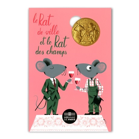 (FMED.Méd.souv.2021.10011357500000) Jeton souvenir - Rat de ville et Rat des champs Recto