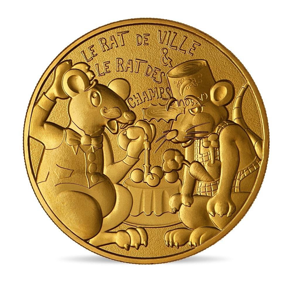 (FMED.Méd.souv.2021.10011357500000) Memory token - Town Rat and Country Rat Obverse (zoom)