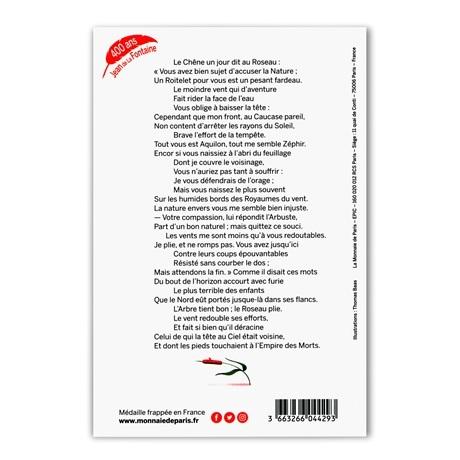 (FMED.Méd.souv.2021.10011357560000) Jeton souvenir - Le Chêne et le Roseau Verso