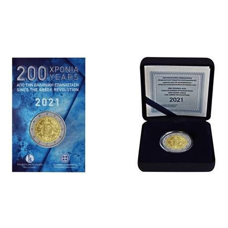 (LOT.EUR08.2021.2.E.1) 2 euro commémoratives Grèce 2021 - Révolution grecque (lot des 2)
