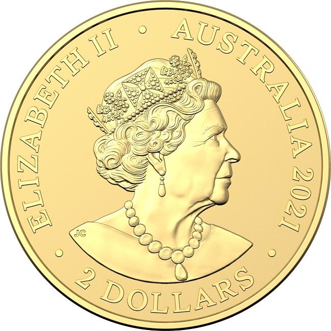 (W017.2.D.2021.10672) 2 Dollars Australie 2021 0.50 g Frosted unc gold - Mini Koala Obverse (zoom)