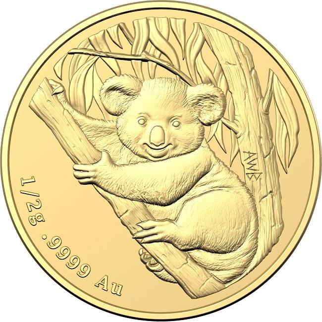 (W017.2.D.2021.10672) 2 Dollars Australie 2021 0.50 g Frosted unc gold - Mini Koala Reverse (zoom)