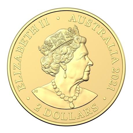 (W017.2.D.2021.10672) 2 Dollars Australie 2021 0,50 gramme or BU - Mini Koala Avers