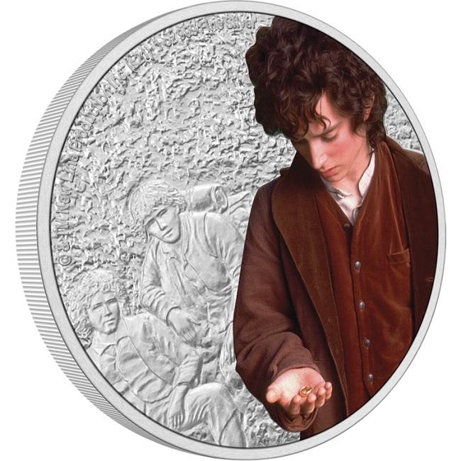 (W160.2.D.2021.30-01075) 2 Dollars Niue 2021 1 oz Proof Ag - Frodo Baggins (edge) (zoom)