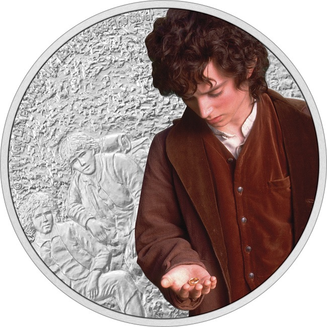 (W160.2.D.2021.30-01075) 2 Dollars Niue 2021 1 oz Proof silver - Frodo Baggins Reverse (zoom)