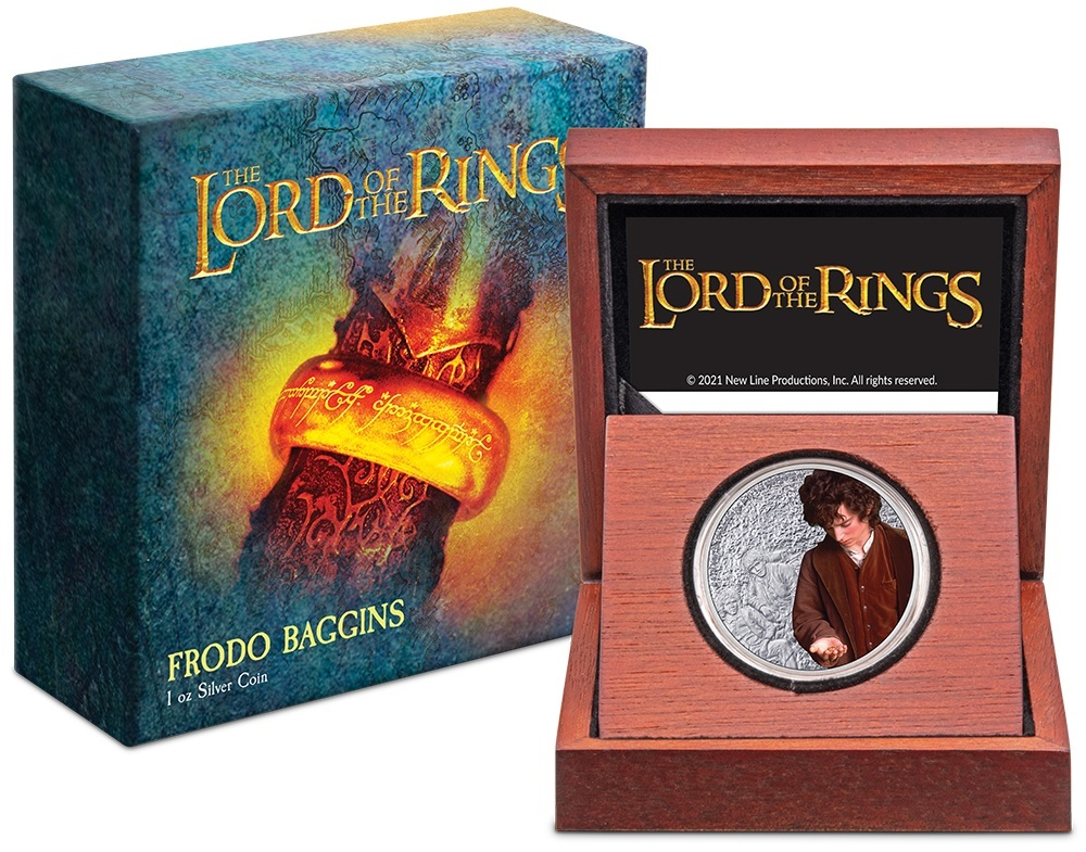 (W160.2.D.2021.30-01075) 2 $ Niue 2021 1 ounce Proof silver - Frodo Baggins (case and box) (zoom)