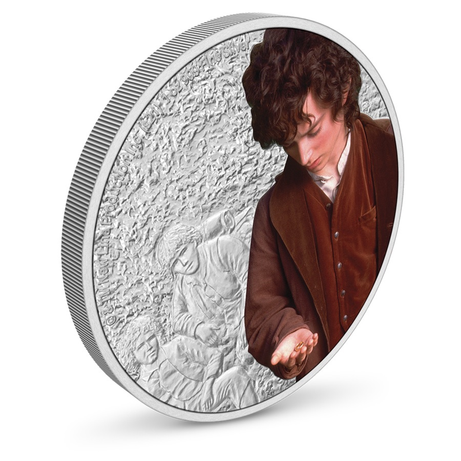 (W160.2.D.2021.30-01075) 2 $ Niue 2021 1 oz Proof silver - Frodo Baggins (view on reverse) (zoom)