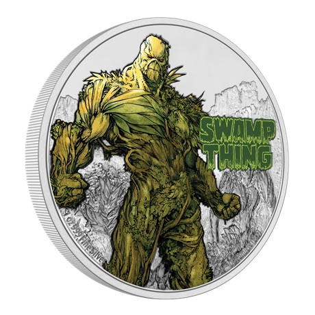 (W160.2.D.2021.NUAG100ST) 2 Dollars Niue 2021 1 once Ag BE - La Créature du marais (tranche)