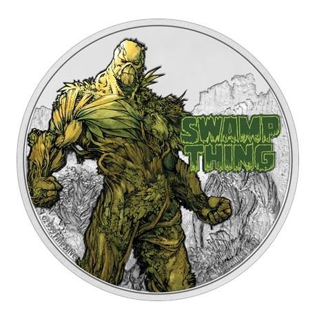 (W160.2.D.2021.NUAG100ST) 2 Dollars Niue 2021 1 once argent BE - La Créature du marais Revers