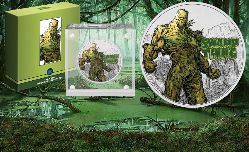 (W160.2.D.2021.NUAG100ST) 2 Dollars Niue 2021 1 ounce Proof silver - Swamp Thing (zoom)