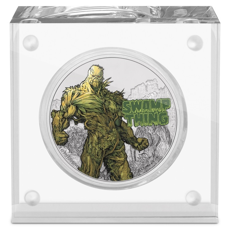 (W160.2.D.2021.NUAG100ST) 2 Dollars Niue 2021 1 oz Proof silver - Swamp Thing (base) (zoom)