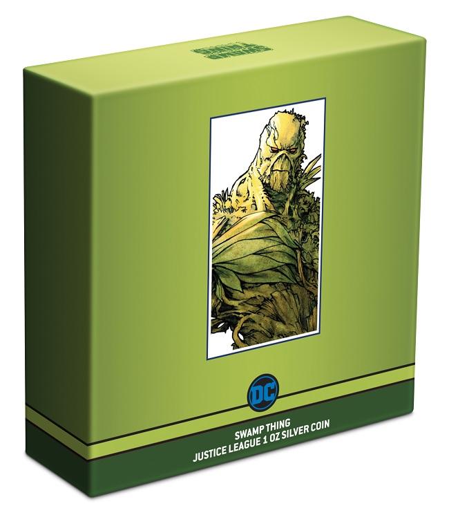 (W160.2.D.2021.NUAG100ST) 2 Dollars Niue 2021 1 oz Proof silver - Swamp Thing (box) (zoom)