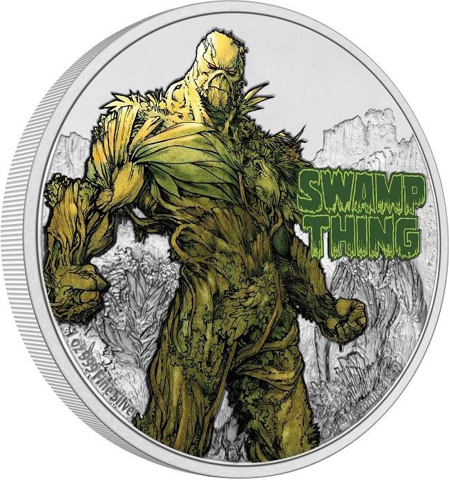 (W160.2.D.2021.NUAG100ST) 2 Dollars Niue 2021 1 oz Proof silver - Swamp Thing (edge) (zoom)
